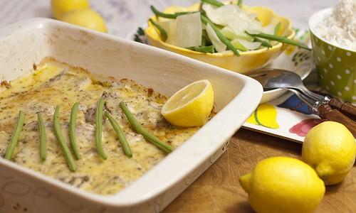 Fisk med ost och citron